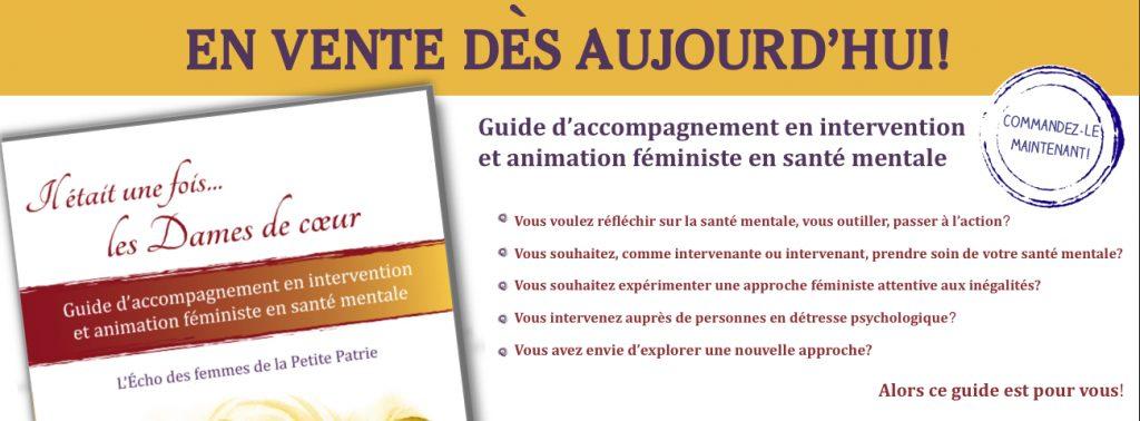 Bandeau vente du Guide en santé mentale