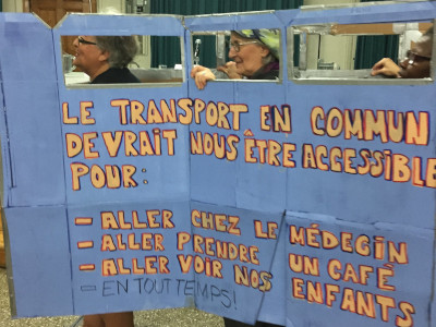 actions collectives pour un transport public abordable