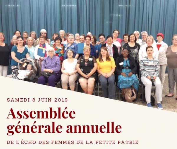 femmes présentes à l'AGA 2018 du centre de femmes