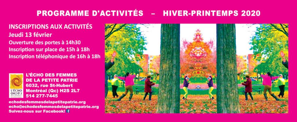 Page couverture programme d'activités H2020