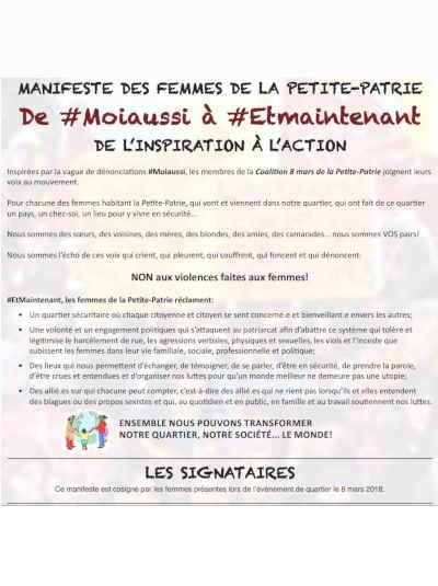 Manifeste des femmes de la Petite-Patrie