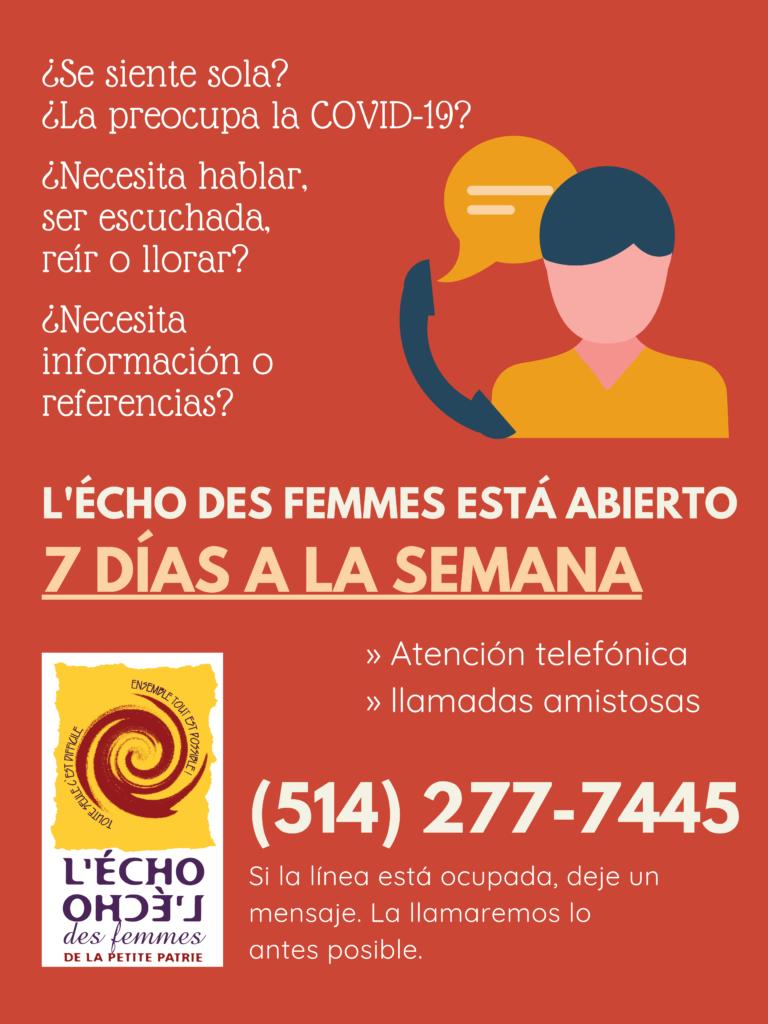 Affiche ouverture en espagnol